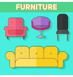 Furniture abstract icon vector