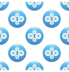 Gears sign pattern vector