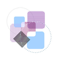 Geometric pastel template abstract background vector