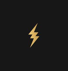 Golden bolt lightning yellow flashes in dark vector