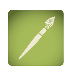 green emblem paint brush icon vector image