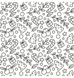 Hand Drawn Winter Season Seamless Pattern vector image vector image