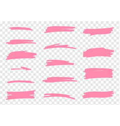 Highlighter brush set vector