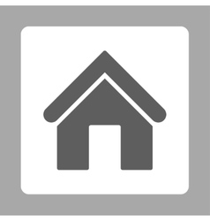 Home flat dark gray and white colors rounded vector