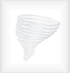 Hurricane or tornado swirl vector