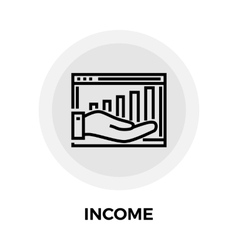 Income Line Icon vector image