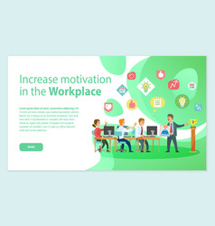 Increase motivation work team in office vector