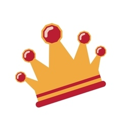 Isolated crown design vector image