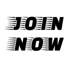 Join now stamp vector