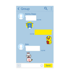 Kakao talk korean messenger app chat interface vector