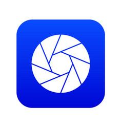 Little objective icon digital blue vector