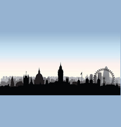 london city buildings silhouette english urban vector image