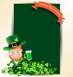 Man holding green beer jug for St Patrick s day vector