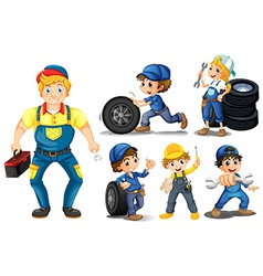 Mechanic set vector image