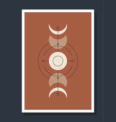 minimalistic poster with celestial bodies poster vector image