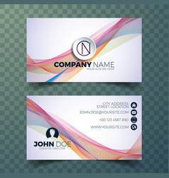 Modern abstract business card design template vector image modern business card design template vector image cheaphphosting Image collections