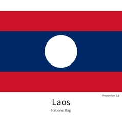 National flag of laos with correct proportions vector