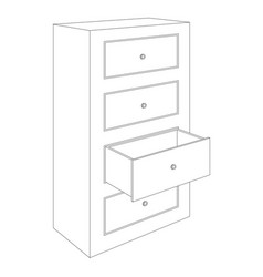 Office cabinet outline drawing vector