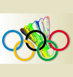 Olympic badminton vector