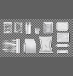 plastic polyethylene packaging realistic vector image