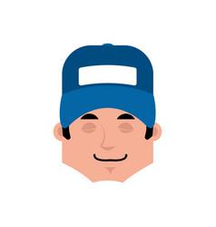 plumber sleep emotion avatar fitter sleeping vector image
