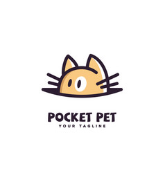 Pocket pet logo vector