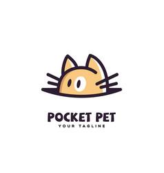 pocket pet logo vector image