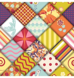 Quilt block seamless pattern vector