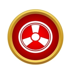 Radiation icon simple style vector