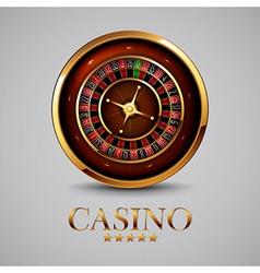 Roulette in the casino vector