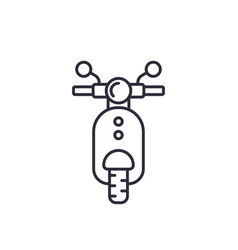 scooter icon linear style vector image