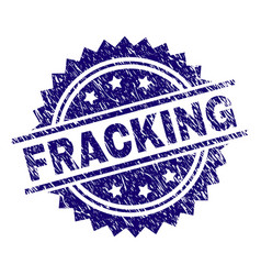 Scratched textured fracking stamp seal vector