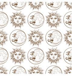 Seamless pattern from outline drawings of a vector