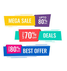 set of horizontal sale banners vector image