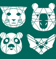 Set of separated animals logos vector