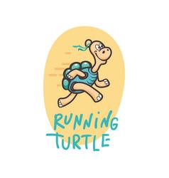 smiling happy turtle icon logo set in cartoon vector image