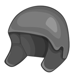 Snowboard helmets icon gray monochrome style vector image