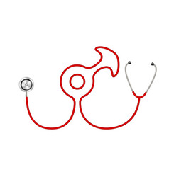 Stethoscope in shape of male symbol vector
