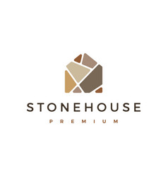 Stone house logo icon vector