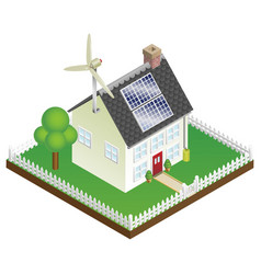 Sustainable renewable energy house vector