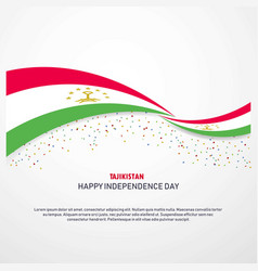 Tajikistan happy independence day background vector