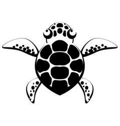 turtle stencil vector image