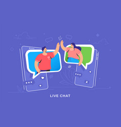 Video call or mobile chat conversation vector