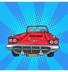 Vitage American Car Retro Vehicle Pop Art vector image