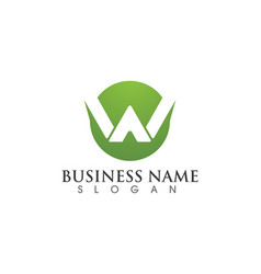 W letter logo business template icon vector