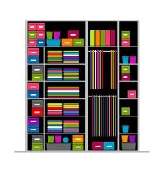 Wardrobe inside for your design vector