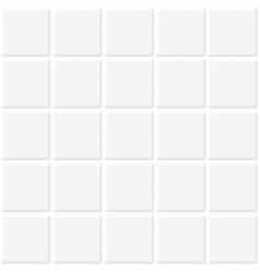 white tiles seamless texture abstract background vector image