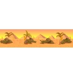 Wild West desert landscape panorama vector