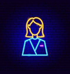 woman neon sign vector image