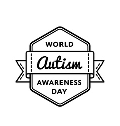 World Autism Awareness day greeting emblem vector image